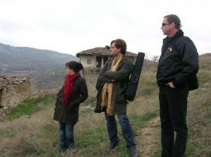 With Jana Andreevska and Nigel Clarke in the Hills outside Skopje. 2007