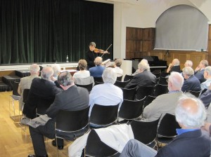 Giving a talk to the Elgar Society, Queens College, London. Monday 4th October