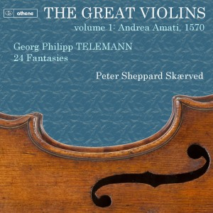 This just in-the first design for the first in my 'Great VIolins' series. Telemann, 24 Fantasies, on the Athene label. Watch this space!