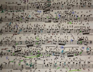 My copy of the violin part of the Notturno from Henze's early Sonata. 15 years of work!