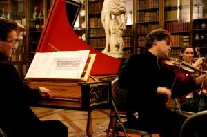 'Facing Enlightenment' 13 12 13 British Museum. Playing Matteis with the fantastic Julian Perkins. Diana Mathews waiting to play...