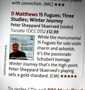 Review of David Matthews Solo Works. To order, go to: http://www.toccataclassics.com/cddetail.php?CN=TOCC0152