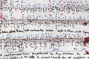 Part of my score for 'Ah poor Robin'