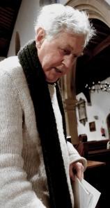 David Matthews at our recording session. St John the Baptist, Aldbury. 2 2 15