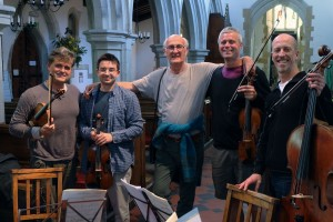 Wonderful day recording with the Kreutzers and Edward Cowie 15 4 15