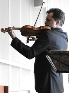 The first note's on Bull's violin, back in Bergen after a century. Troldsalen (Troldhaugen-Grieg's House) 26 5 15