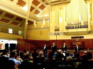 Back at Goldsmiths College-first concert of our new Residency. Webern, Stravinsky, Matthews, Finnissy, Bartok 6 2 14