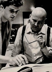 With Hans Werner Henze in much younger days!