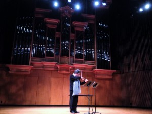 Turner Hall, Vanderbilt University Nashville 16th September 2015. Rehearsing Michael Alec Rose's 'Water' and 'Stone'
