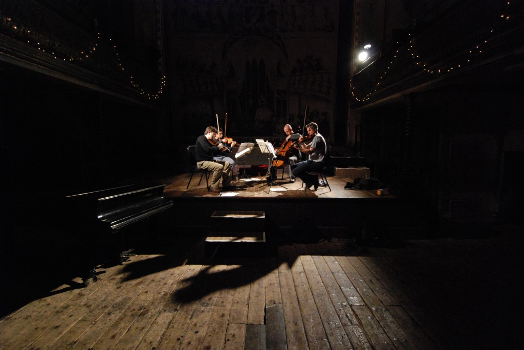 The Kreutzers on their favourite stage-Wilton's Music Hall. May 2009. Photo: Colin Still