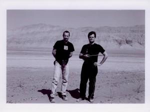 With Nigel Clarke. Gobi Desert. Xinjiang, China. 2002
