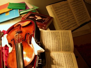 Practising Bach and Brahms - Maud Powell and Joachim in mind....