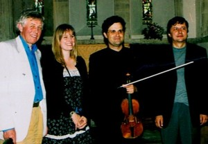 PSS with composers David Matthews, Sadie Harrison, Pavel Novek. Deal Festival 2004
