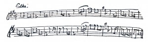 The 9 year old Carl Nielsen's Polka. This did not please his father....