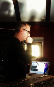 David Gorton working on the electronics of his Cello Sonata. Malmo November 15th