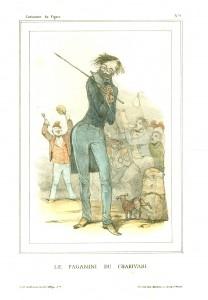 Le Paganini du Charivari.Caricature du Figaro(No.9)