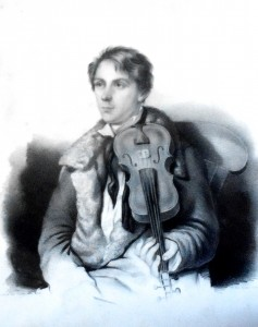 Ole Bull as a Young Man. (An engraving at his house, Valestrand)