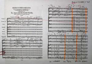 My working score of Beehoven's 'Elegischer Gesang' (Second Edition)
