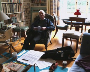An inspiring morning, working on Robin Holloway's new work for solo violin, with the composer in Cambridge. 22 1 15