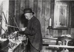 James Tubbs in his Wardour Street workshop