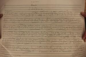 Manuscript of Henze's Serenade. Seen 20 5 15