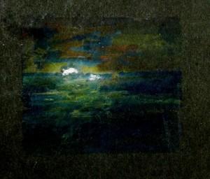 Moonlight. A break in the clouds
