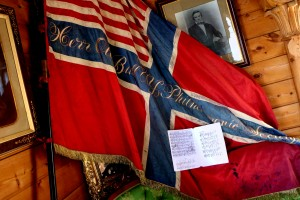 The score of my very imaginative reconstruction of Ole Bull's 'American Fantasy', with the flag presented to Bull by the New York Philharmonic Society