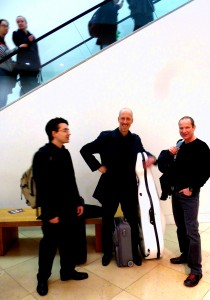 Nigel Clarke with Neil Heyde and Mihailo Tradanfilovski at the National Portrait Gallery 2014