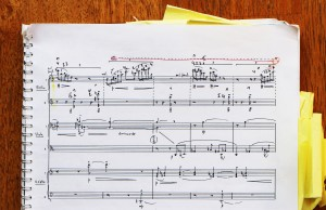 The score of 'Sextet' Three players, six lines!