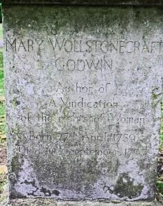 Grave of Mary Woollstonecraft