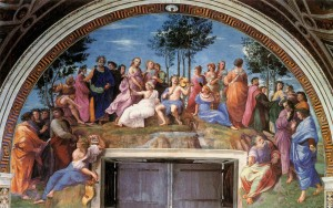 Raphael-Apollo with the Muses on Mount Parnassus (Vatican Stanzas)