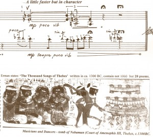 Part of the score