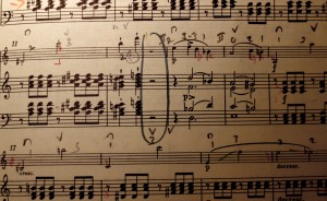 My performing score of the D minor Sonata D385