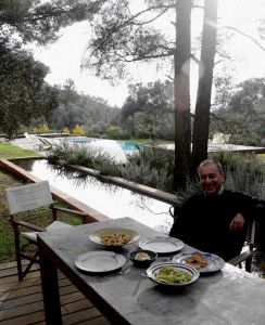 Perfect lunch at the Olive Grove, with Garo Keheyan