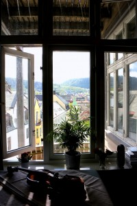 Ole Bull's Amati, back in Bergen. Practice, with a view, before leaving for Troldhaugen 26 5 15