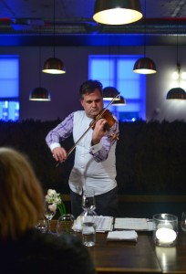 Presenting the violin in the salon environment.-Lysvaerket, 1 6 16. Thanks to Bonjwing Lee for the photo. bonjwing.com