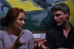 Writer Malene Skaerved and composer Eivind Buene in conversation