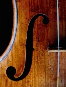 Close up of an extraordinary violin