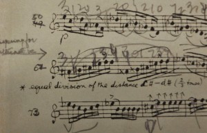 A reason to get excited...Bartok's notation, in 2/3 tones, on the Menuhin's copy of the Solo Sonata.