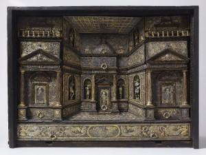 Cabinet, with damascene embellishments. Milan, ca. 1580. Waddesdon Room British Museum