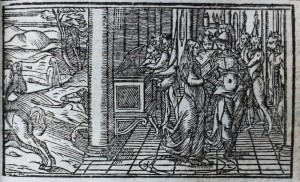 A plate from my 1620 Venetian editionof Boiardo's 'Orlando Innamorato'
