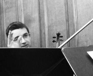 From where I sit. Mihailo Trandafilovski, composer violinist, in action. 12 5 16