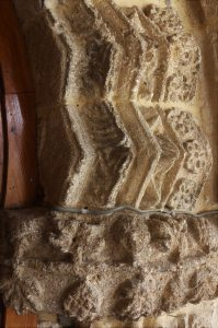 High decorated French Medieval carving