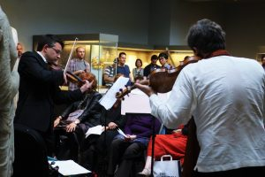 Playing works inspired by Alexander the Great, with Mihailo Trandafilovski. Room 22 British Museum 17th June 2016