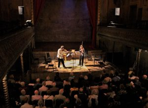 Making Music. Composer-Players-Instruments-Audience-Space-Ideas. The premiere of Edward Cowie's 'Particule Partita' 26 7 16 (wilton's music hall) Photo Marius Skaerved