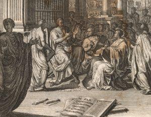 Quintilian,Institutio Oratoria ed.Burman(Leiden 1720),frontispiece DETAIL