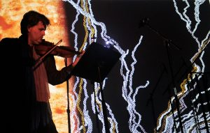 Photo by Marius Skaerved. Playing Elliott Schwartz's 'Darwin's Dream' Symphony Space. New York City 21 9 16