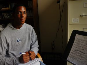 Composer Malachi Brown, while we work on his 'Impromptu' 14 9 16