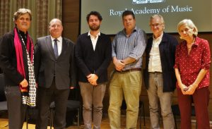 PPS, Tim ones, Luca Alessandrini, Ben Hebbert, Luthier John Dilworth, Royal Academy Curator of Instruments Barbara Meyer