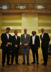 A great new partnership. The quartet with George Holloway. Tianjin Conservatory, 20 10 16